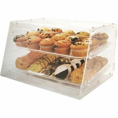 Restaurant Commercial Winco Counter Top Display Case with 2 Trays Clear Acrylic