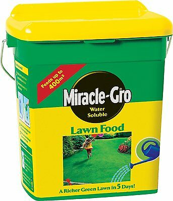 Miracle-Gro Water Soluble Lawn Food 400 sq m (2 kg) Tub New
