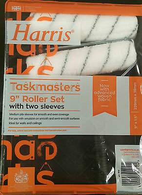 9' Harris Paint Roller & Tray For Painting Diy Painters Decorating Extra Roller