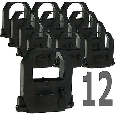 Ink Ribbon For Amano Time Clock PIX TCX CP EX CE315151 (12-PK Black) by Goril...