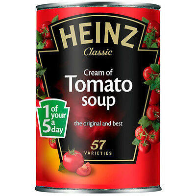 Heinz Classic Cream of Tomato Tinned Soup - 400g Cans