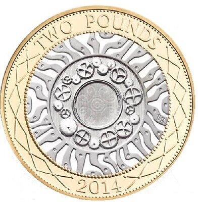 2014 £2 UNCIRCULATED TWO POUND COIN HUNT 01/32 RARE BI-METAL 2 a