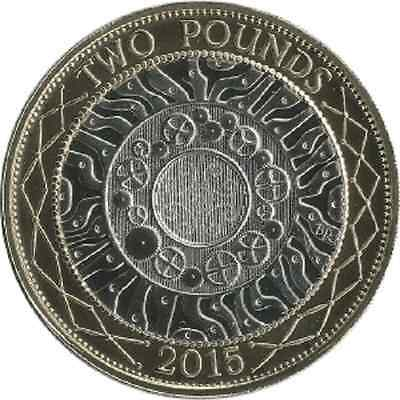 2015 £2 UNCIRCULATED TWO POUND COIN HUNT 01/32 RARE BI-METAL 2 a