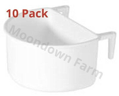 10 X Large 7.5cms Cage Feeder / Cage Drinker D Cup Chicken / Rabbits / Birds