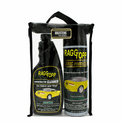 Raggtopp Fabric Protectant Cleaner Kit Convertible Top Uv Blockers Carrying Bag