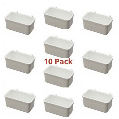 10 X REPLACEMENT EXTERNAL CAGE FEEDERS FOR CAGE & AVIARY Budgie, Canary, Finch