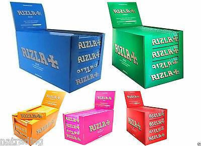 Rizla Standard Cigarette Rolling Papers Blue/Green/Red -1,5,20,50,100 BOOKLETS