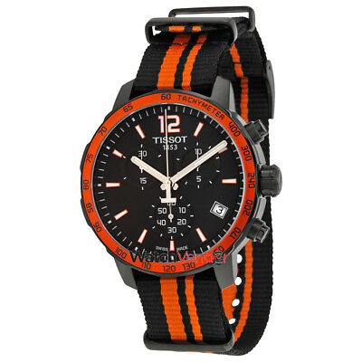 Tissot Quickster Black and Orange Synthetic Mens Sports Watch T0954173705700