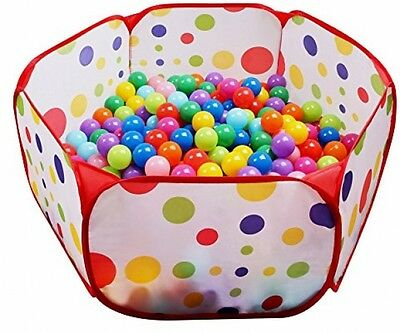 NEW Kids Indoor / Outdoor Playpen Ball Pit, Baby Soft Plastic Play Balls Pits