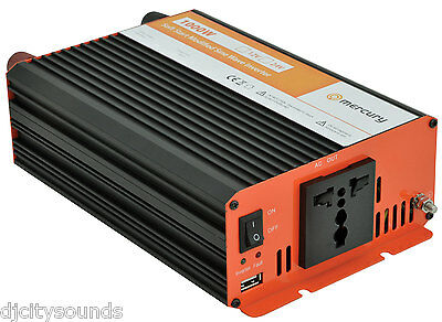 MERCURY 12V Soft-Start Modified Sine Wave 1000W Inverter UK/EU Plugs
