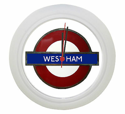 West Ham Tube Underground Wall Clock ! Great Gift for Hammers Fan