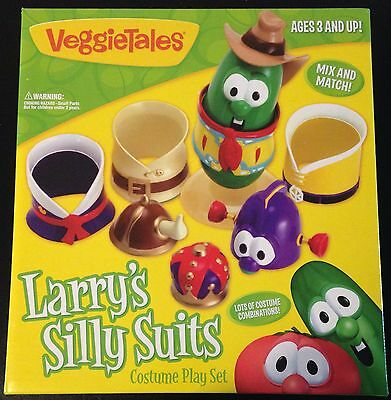 VEGGIETALES LARRYS SILLY SUITS Toy Figure Larryboy King George Dress Up Costumes