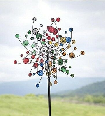 Confetti Wind Spinner Kinetic Metal construction