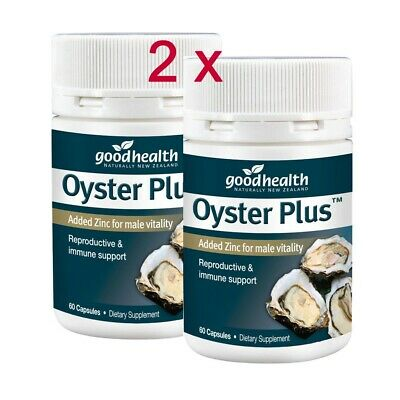 x 2 (Twin pack of 2 x 60 ) Good Health  Oyster Plus Added Zinc for male vitality