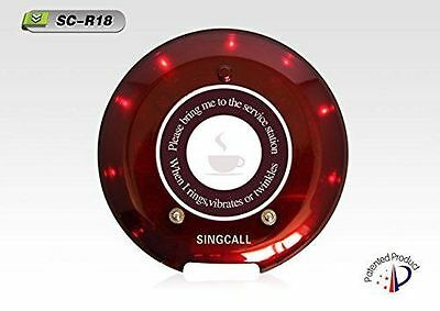 SINGCALL.Wireless Kitchen Coaster Paging System,Single Buttons, Can't Use Alone
