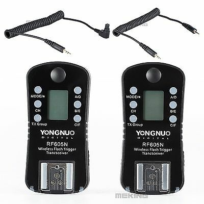YONGNUO RF605N Flash speedlite Trigger  shutter wireless with LCD for Nikon D300