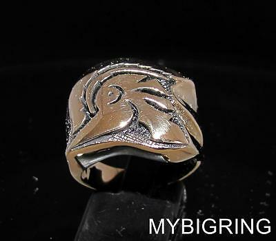 Bronze Men's Signet Ring Roman Legion Centurion Gladiator Helmet Armor Any Size