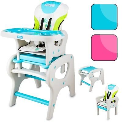 Baby Highchair Infant High Feeding Seat 2in1 Toddler Table Chair