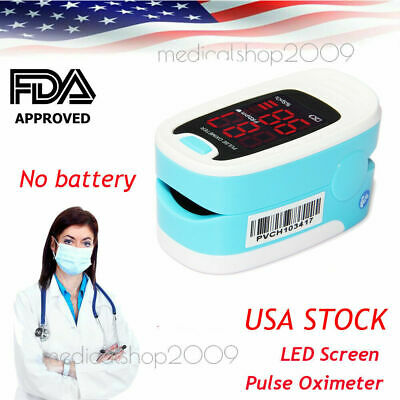 USA Fingertip Pulse oximeter Spo2 Monitor Blood Oxygen LED case CMS50DL pink