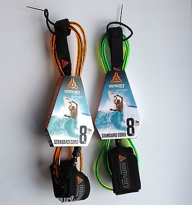 Komunity Project 8ft Standard Surfboard Ankle Leash NEW surf 7mm Cord Leg Rope