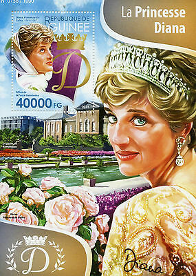 Guinea 2015 MNH Princess Diana 1v S/S Royalty Kensington Palace