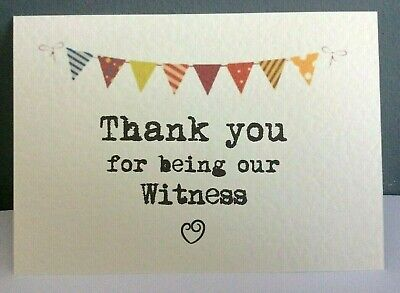 THANK YOU Wedding card & Envelope - Ivory - Bunting - can personalise