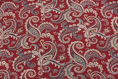 Antique c1880 Turkey Red Paisley Cotton Fabric Textile Yardage~Bandana~Quilters
