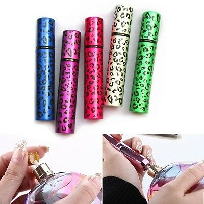 8ML Refillable Colorful Leopard Print Metal Perfume Bottle Spray Gift Travel