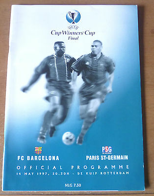 1997 - Barcelona v Paris St-Germain, Cup Winners Cup Final Match Programme.