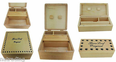Cbl / Grassleaf Large, Medium, Small Wooden Rolling Rollbox Tobacco Storage Box