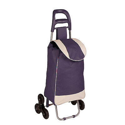 Rolling Fabric cart with Tri-Wheels in Plum # CRT-03934 by Honey Can Do