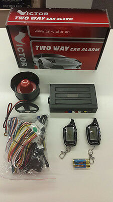 Lcd Two Way Car Alarm With Remote Engine Start ,2 Remote Controls
