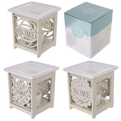 Decorative Home Fretwork Wood and Ceramic Oil Burner