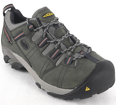 Keen Men's Detroit Low Steel Toe Safety Leather Work Shoes Charcoal 1007010