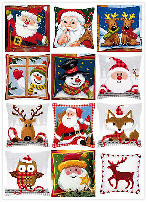 BHD Cross Stitch Christmas Cushion 42by42cm DIY Craft Needle Embroidery Kit Gift