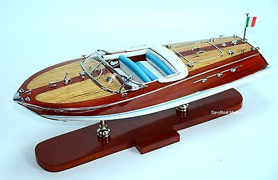 "Riva Ariston 20""- Handcrafted Wooden Speedboat Model"
