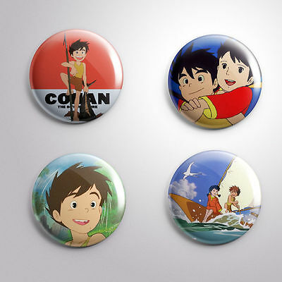 4 CONAN THE FUTURE BOY -  Pinbacks Badge Button 25mm 1''