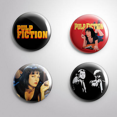 PULP FICTION - Lot of 4 Pinbacks Badge Button 25mm 1''