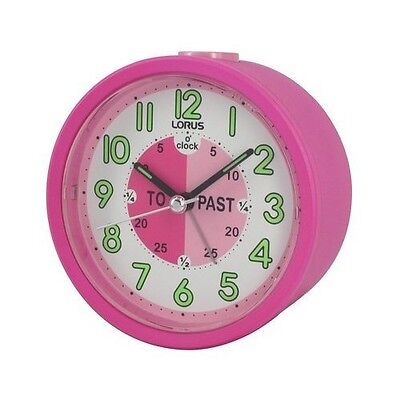Lorus Time Teacher Beep Alarm Clock For kids Children Pink LHE034P