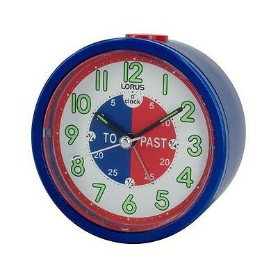 New Lorus Time Teacher Beep Alarm Clock For Kids Children Blue  LHE034L