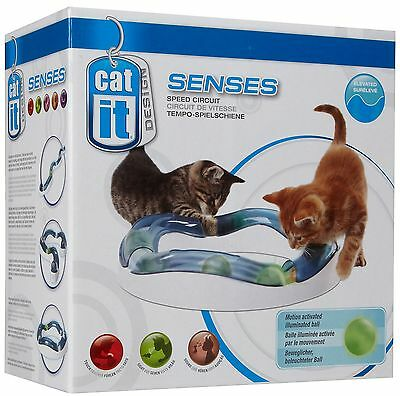 Hagen  Catit Senses Elevated Speed Circuit Cat Kitten Exercise Activity Play Toy