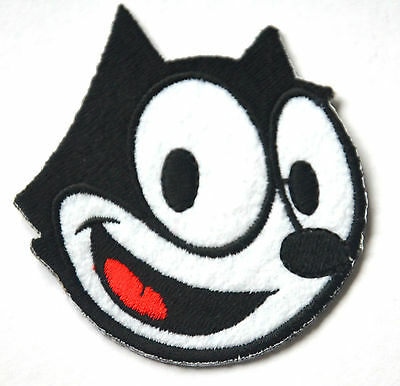 FELIX THE CAT FACE KORKY Embroidered Sew Iron On Cloth Patch Badge APPLIQUE