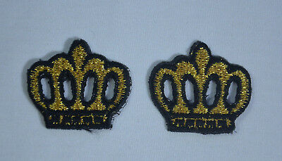 CROWN KING QUEEN PRINCESS 3cm Embroidered Sew Iron On Cloth Patch Badge APPLIQUE