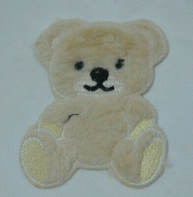 CHOCOLATE BROWN TEDDY BEAR Embroidered Iron Sew On Cloth Patch Badge APPLIQUE