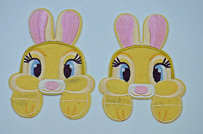 CUTE BUNNY RABBIT BIG PAWS  Embroidered Sew Iron On Cloth Patch Badge APPLIQUE