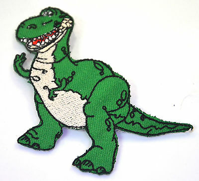 REX DINOSAUR TOY STORY  Embroidered Sew Iron On Cloth Patch Badge APPLIQUE