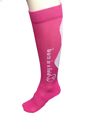 LADIES pink compression socks running athletics cycling recovery womans 3-6 SIZE