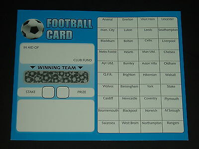 40 Team Football Fundraising Scratch Cards - Value Pack Of 20 Quality Cards