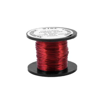 1 x Bright Red Plated Copper 0.5mm x 15m Round Craft Wire Coil W5003