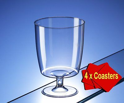 One Piece Disposable Plastic Wine Glasses 200ml Pack of 100